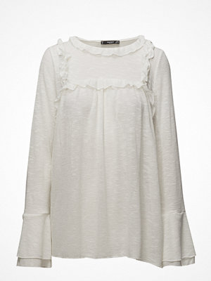 Blusar - Mango Ruffled Detail T-Shirt