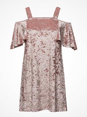 Mango Velvet Cold-Shoulder Dress