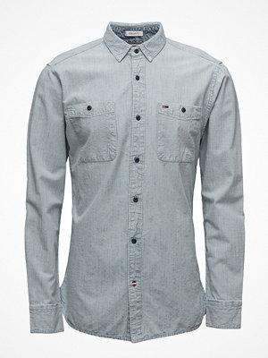 Skjortor - Hilfiger Denim Thdm Indigo  Stripe Shirt L/S 33