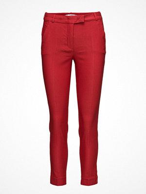 Mango röda byxor Crop Slim-Fit Trousers