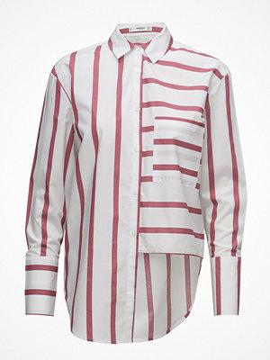 Mango Striped Pearls Shirt