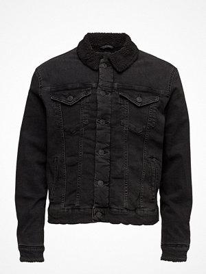 Jeansjackor - Selected Homme Shxteddy Black Denim Jacket