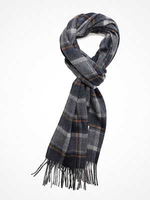 Halsdukar & scarves - Selected Homme Shdtope Wool Check Scarf