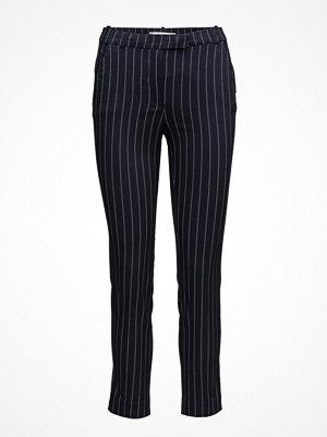 Mango svarta randiga byxor Crop Slim-Fit Trousers