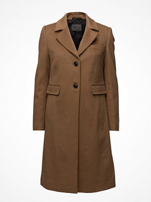 Sand Cashmere Coat W - Limoni