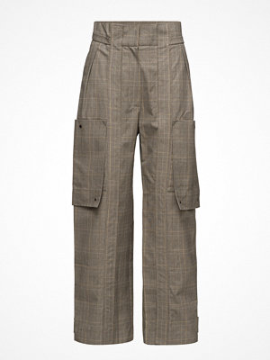 Mango rutiga byxor Check Cargo Trousers