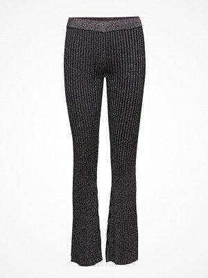 Second Female mörkgrå byxor Moon Knit Trousers