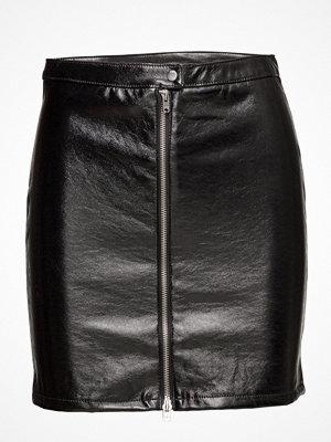 Only Onlcaro Glazed Faux Leather Skirt Otw