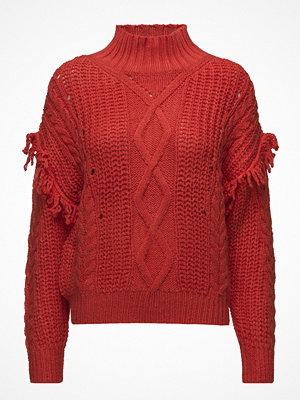 Mango Fringes Cable-Knit Sweater