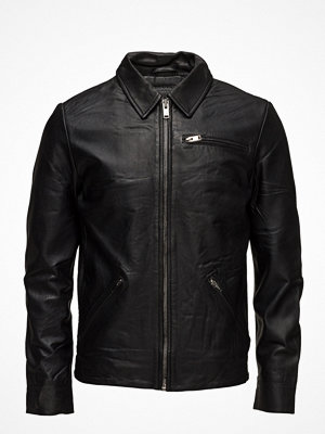 Skinnjackor - Selected Homme Shnmax Classic Leather Jacket