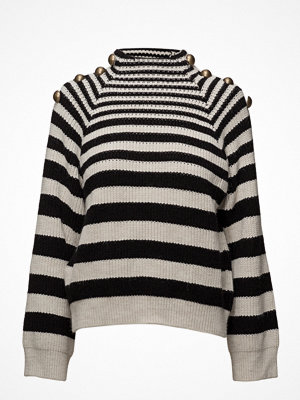 Mango Buttoned Striped Sweater