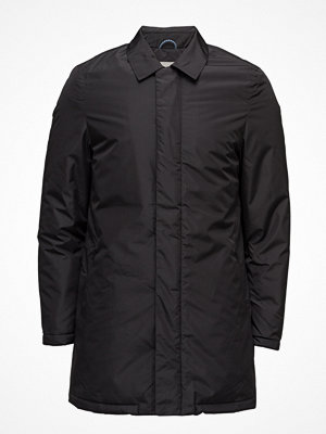 Trenchcoats - Knowledge Cotton Apparel Rib Stop Functional Long Jacket - G