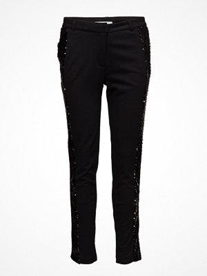 2nd One svarta byxor med tryck Carine 810 Black Sequin, Pants