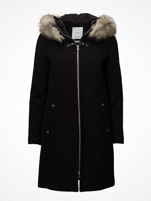 Mango Faux-Fur Appliqu Wool Coat