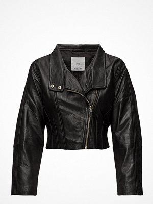 Skinnjackor - Mango Leather Aviator Jacket