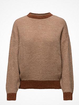 Mango Metallic Thread Textured Sweater
