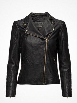 Skinnjackor - Depeche Classic Biker Jacket With Zipper Details