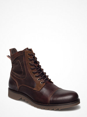 Vardagsskor & finskor - Jack & Jones Jfwdean Leather Brown Stone