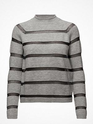 Mango Striped Panel Sweater