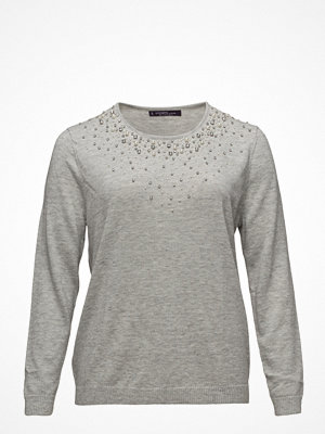 Violeta by Mango Pearls Rhinestone Sweater
