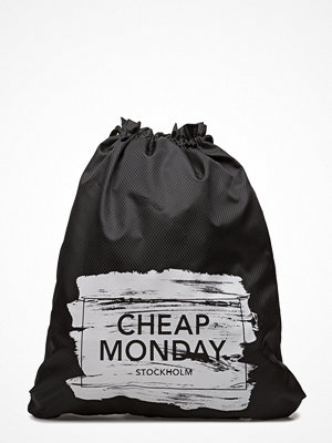 Cheap Monday svart ryggsäck med tryck Rapid Gym Bag Paint Box