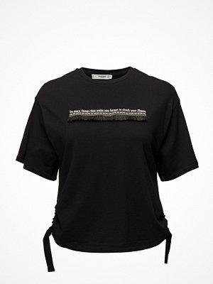 Mango Fringed Message T-Shirt