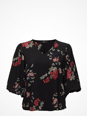 Only Onltyra Ballon Sleeve Top Aop Wvn