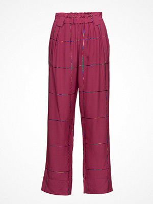 Stine Goya rosa rutiga byxor Vinnie, 297 Tartan Silk