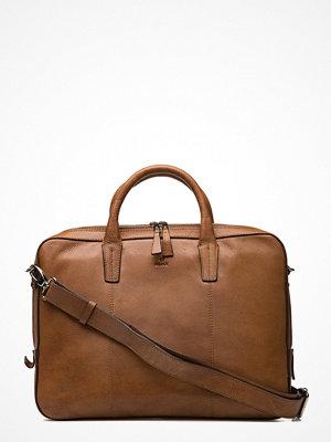 Adax brun datorväska Napoli Working Bag Glenn 14
