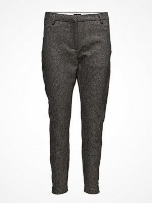 Fiveunits mörkgrå byxor Angelie 518 Zip, Grey Gold, Pants