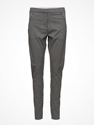 Fiveunits grå byxor Angelie 225 Light Grey Melange Slim, Pants