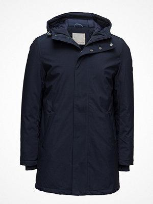 Parkasjackor - Knowledge Cotton Apparel Long Soft Shell Quilted Jacket - Gr