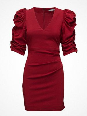 Mango Ruched Sleeve Dress