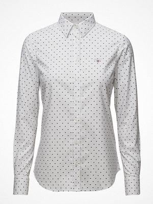 Skjortor - Gant Stretch Oxford Print Dot Shirt