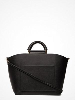 Mango Pocket Shopper Bag svart