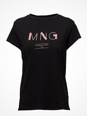 Mango Frayed Logo T-Shirt