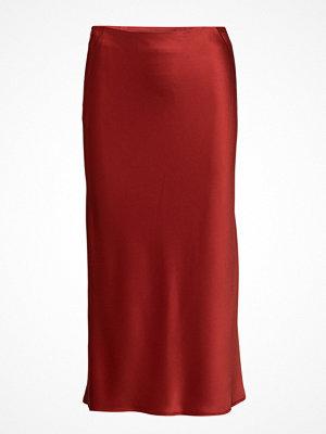 T By Alexander Wang Heavy Draped Satin Straight Skirt