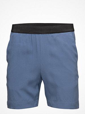 Whyred Blue Elastic Silk Stretch Short