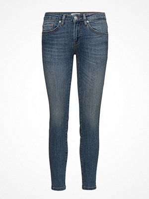 Selected Femme Sfida Mw Cropped Jeans Blue Water Noos