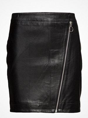 Vila Viflorista Leather Skirt