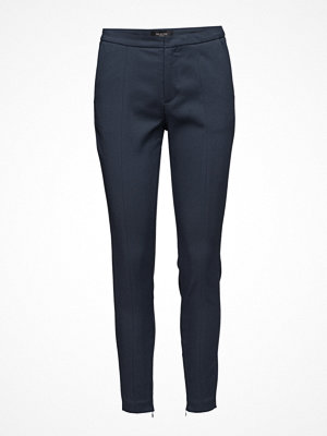 Selected Femme marinblå byxor Sfmuse Cropped Mw Pant Noos