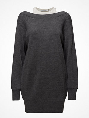 T By Alexander Wang Bi-Layer Knit Dress W/ Inner Tank