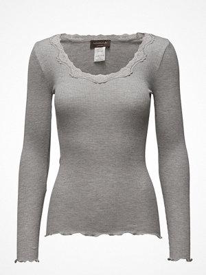 Toppar - Rosemunde Silk T-Shirt Regular Ls W/Rev Vinta