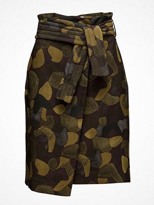 Mango Belt Camo Skirt