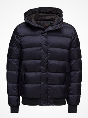 Dunjackor - Scotch & Soda Quilted Down Bomber Jacket In Nylon Quality With Hood