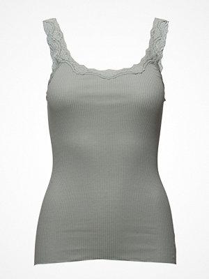 Linnen - Rosemunde Silk Top Regular W/Rev Vintage Lace