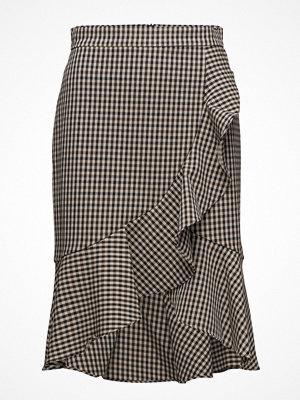 Mango Ruffled Checked Skirt