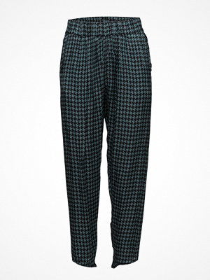 Rabens Saloner mönstrade byxor Houndstooth Cropped Pant