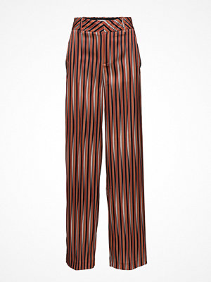 Mango mönstrade byxor Satin Striped Trousers
