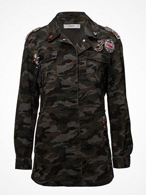 Mango Military-Style Beads Jacket